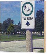 Way To The Usa Wood Print