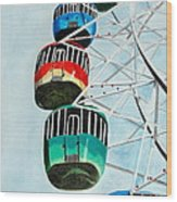 Way Up In The Sky Wood Print