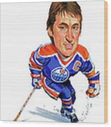 Wayne Gretzky Wood Print by Art