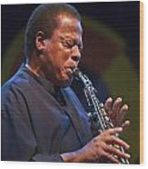 Wayne Shorter Plays Wood Print by Craig Lovell