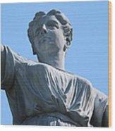 Waynesburg University Statue Wood Print