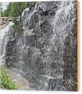 Wayside Waterfall - Acadia Np Wood Print