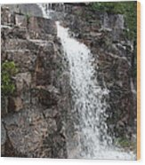 Wayside Waterfall I - Acadia Np Wood Print