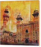 Wazir Khan Mosque Wood Print