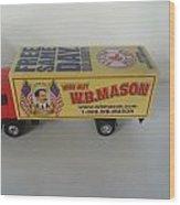 W.b. Mason Truck Wood Print