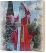 Wdw Santa Photo Art Wood Print