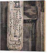 We Buy Old Horses - Vintage Thermometer Wood Print