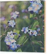 We Lay With The Flowers Wood Print