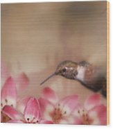 We Love Those Lilies Wood Print