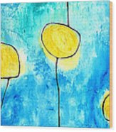 We Make A Family - Abstract Art By Sharon Cummings Wood Print
