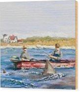 We Need A Biggah Boat Wood Print by Jack Skinner