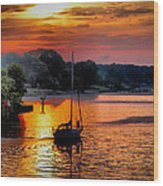 We Sail At Sunrise Wood Print