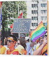 We Support Our Lgbtq Students Wood Print