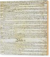We The People Constitution Page 3 Wood Print