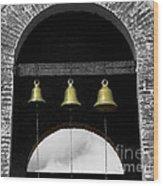 We Three Bells Wood Print