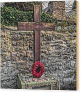 We Will Remember Wood Print by Adrian Evans