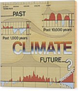 Weather: Climate Change Wood Print