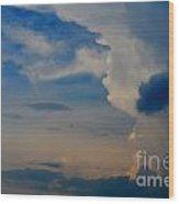 Weather Rising Wood Print