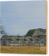 Weathered Barns Wood Print by Alys Caviness-Gober