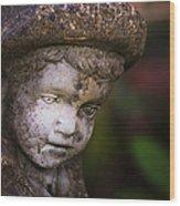 Weathered Boy Wood Print