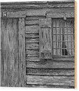Weathered Door And Window 1 Wood Print