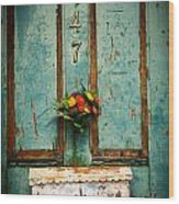 Weathered Door Wood Print by Patty Descalzi