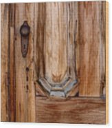 Weathered Entrance Wood Print