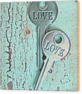 Weathered Love Wood Print
