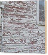 Weathered North Barn Lower Window Wood Print