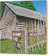 Weathered Old Country Barn Wood Print