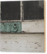 Weathered Old Door Wood Print
