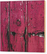 Weathered Red Wood Print