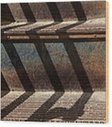 Weathered Stairs Wood Print