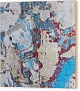 Weathered Wall 02 Wood Print