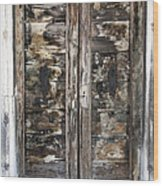 Weathered Wood Door Venice Italy Wood Print