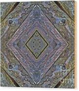Weathered Wood Tiled IIi Wood Print