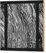 Weathered Wood Triptych Bw Wood Print