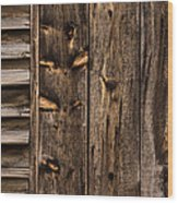 Weathered Wooden Abstracts - 3 Wood Print