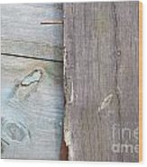 Weathered Wooden Boards Wood Print