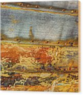 Weathered Wooden Boat - Abstract Wood Print