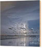 Weaver Pier Illuminated Wood Print