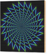 Web Mandala Wood Print