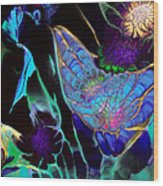 Webbed Galaxy Wood Print by Nan Bilden