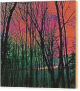 Webbs Woods Sunset Wood Print