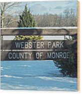 Webster Park Sign Wood Print