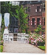 Wedding Arrangement In De Haar Castle. Utrecht  Wood Print by Jenny Rainbow