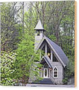 Wedding Chapel Wood Print