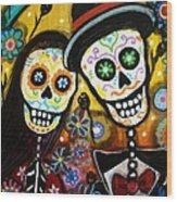 Wedding Dia De Los Muertos Wood Print