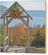 Wedding Gazebo Wood Print