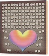 Wedding Guest Signature Book Heart Bubble Speech Shapes Wood Print